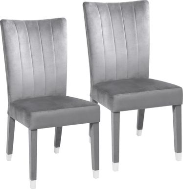 Mabrey Gray Side Chair, Set of 2