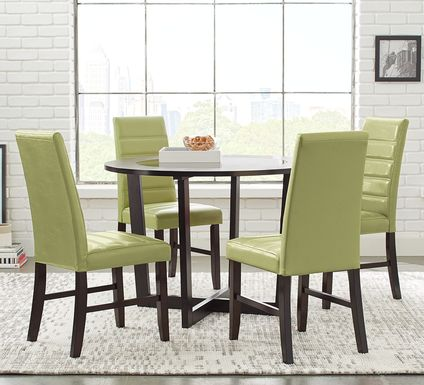 mabry-espresso-5-pc-dining-set-with-green-chairs