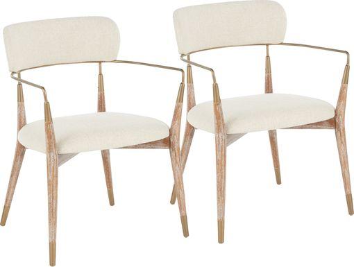 Mackling Cream Arm Chair, Set of 2