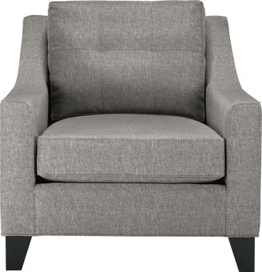 Cindy Crawford Home Madison Place Gray Textured Chair