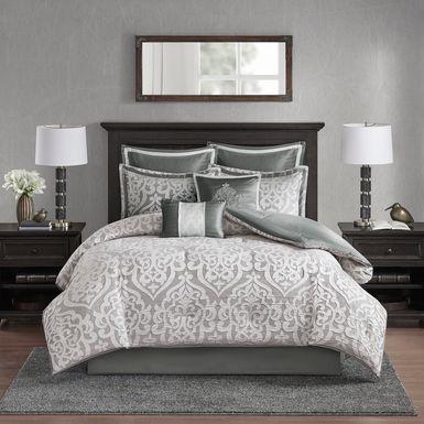 Magali Silver 8 Pc King Comforter Set