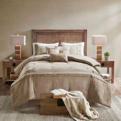 Maiar Tan 7 Pc King Comforter Set