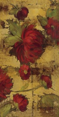 Majestic Dahlias 7' Long Canvas Artwork