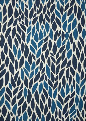 Malika Blue 5' x 8' Indoor/Outdoor Rug