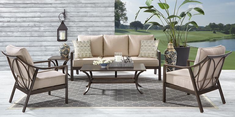 Manchester Hill Antique Bronze 4 Pc Outdoor Seating Set
