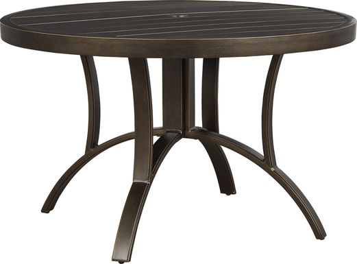 Manchester Hill Antique Bronze 48 in. Round Outdoor Dining Table