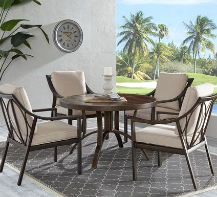 Manchester Hill Antique Bronze 5 Pc Round Outdoor Dining Set