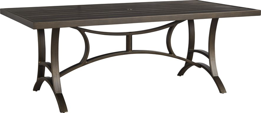 Manchester Hill Antique Bronze 79 in. Rectangle Outdoor Dining Table