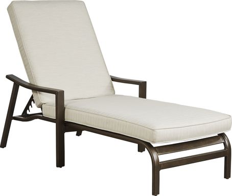 Manchester Hill Antique Bronze Outdoor Chaise
