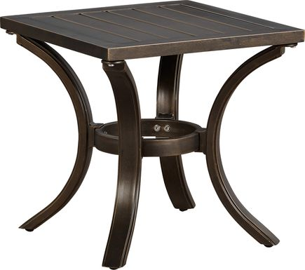 Manchester Hill Antique Bronze Outdoor End Table