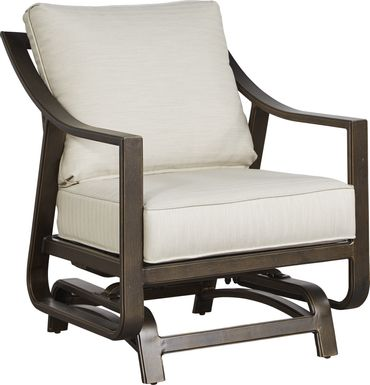 Manchester Hill Antique Bronze Outdoor Rocker Chair