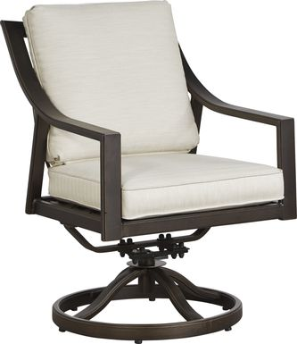 Manchester Hill Antique Bronze Outdoor Swivel Rocker Chair