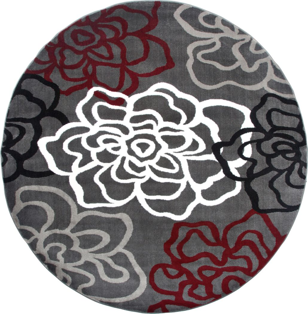 Round Floral Rugs