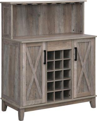 Mankato Gray Bar Cabinet
