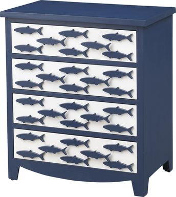 Manorside Blue Accent Cabinet