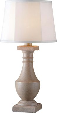 Manteo Gray Outdoor Table Lamp