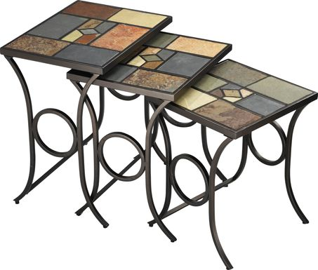 Manton Black Set of 3 Nesting Tables