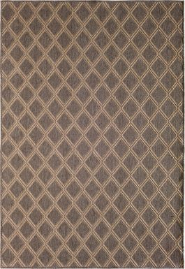 Marana Brown 6' x 9' Indoor/Outdoor Rug