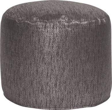 Marbee Dark Gray Pouf