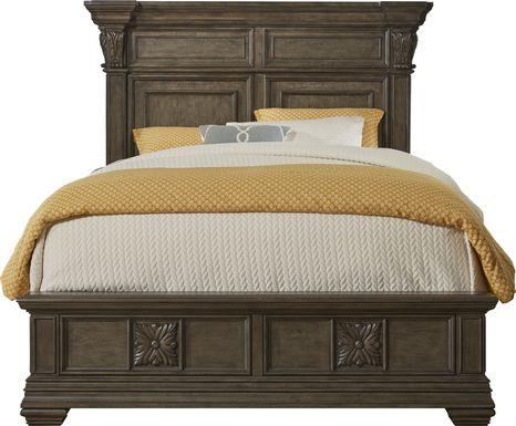 Marcelle Brown 3 Pc King Panel Bed