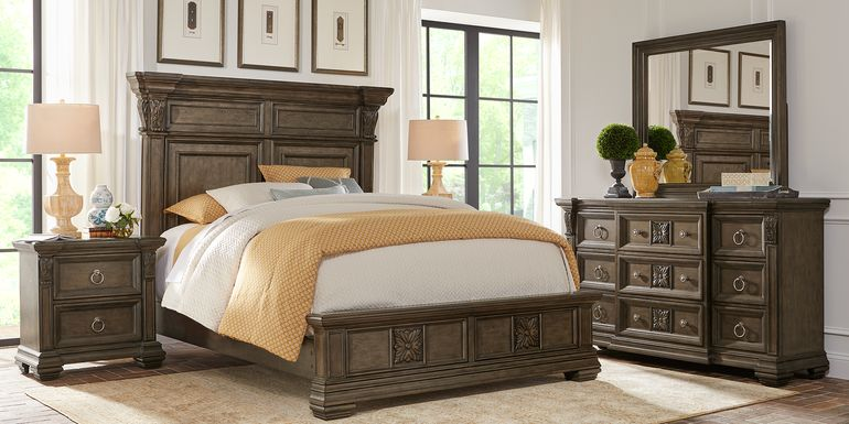 Marcelle Brown 5 Pc King Panel Bedroom