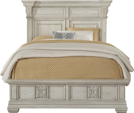 Marcelle White 3 Pc King Panel Bed