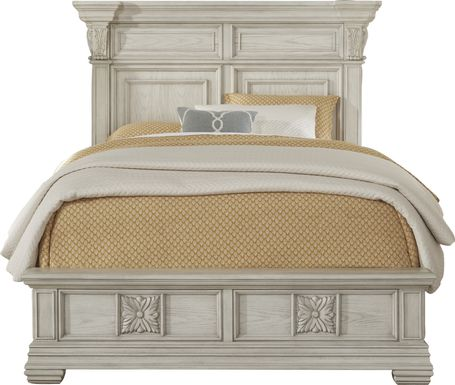 Marcelle White 3 Pc Queen Panel Bed