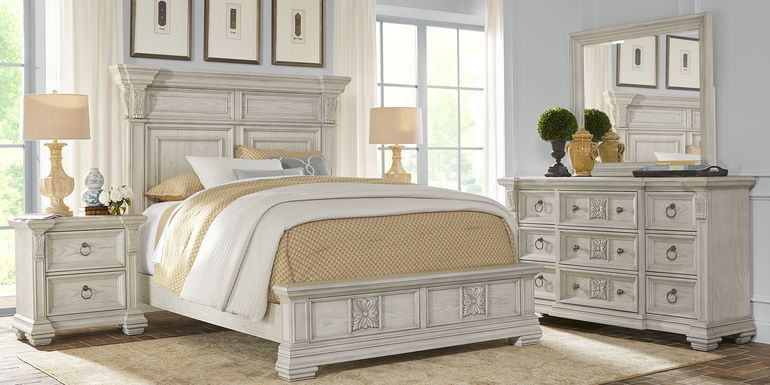 Marcelle White 5 Pc Queen Panel Bedroom