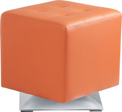Marco Place Ottoman in Orange