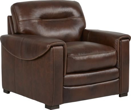 Margallo Brown Leather Chair