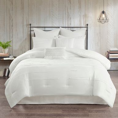 Maricka White 8 Pc King Comforter Set