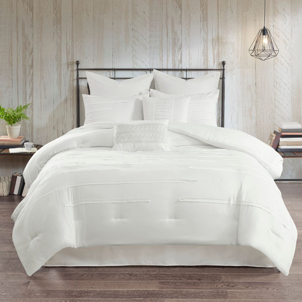 Maricka White 8 Pc Queen Comforter Set
