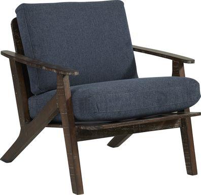 Maritime Marsh Navy Accent Chair