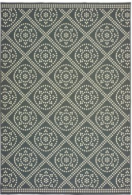 Marlfield Gray 6'7 x 9'6 Indoor/Outdoor Rug