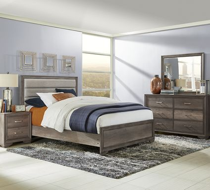 Marlow Gray 5 Pc King Panel Bedroom