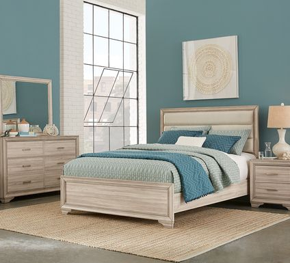 Marlow Natural 5 Pc Queen Panel Bedroom