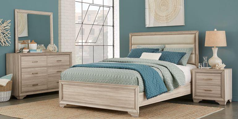 Marlow Natural 7 Pc King Panel Bedroom