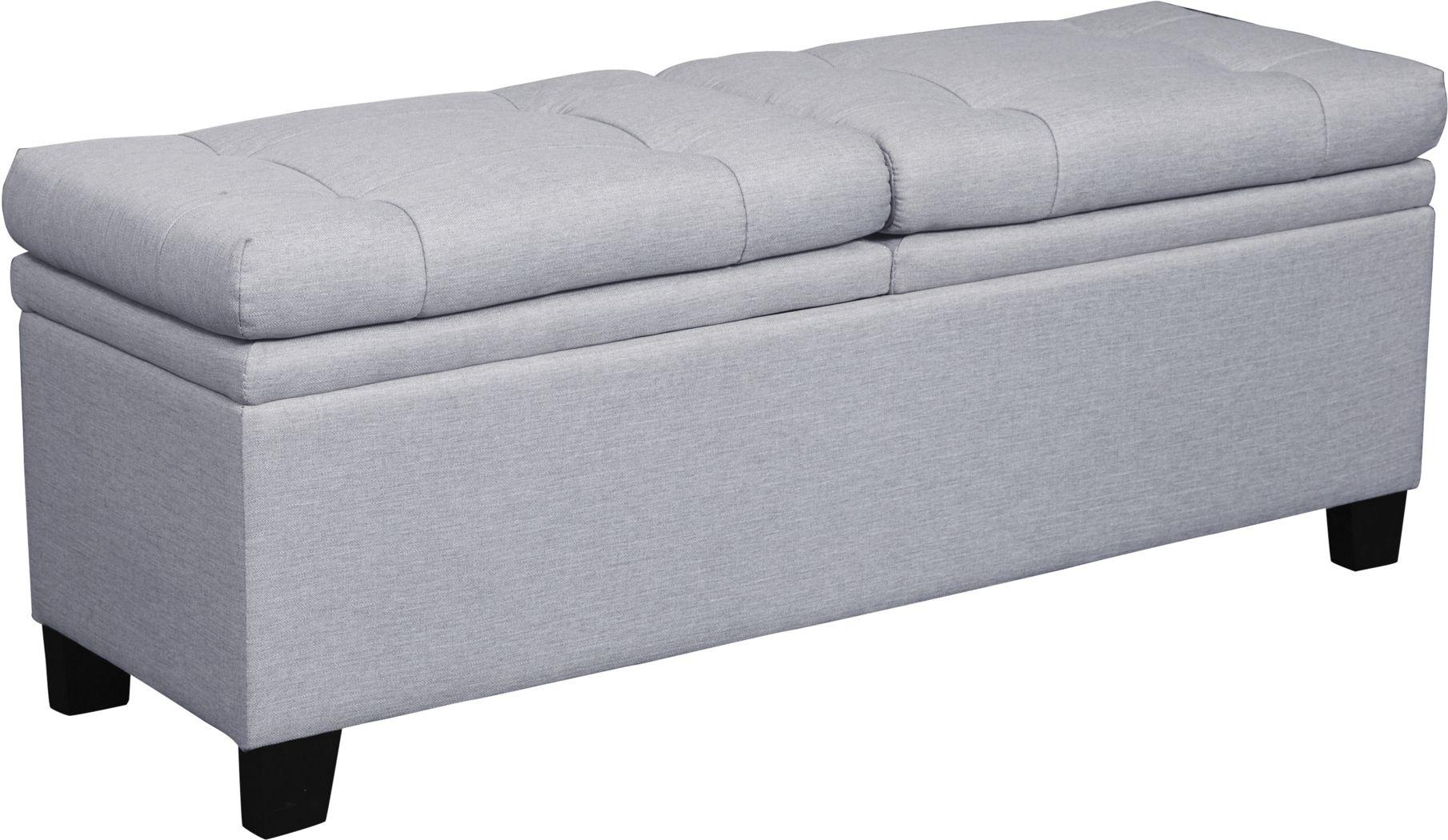 Marmor Gray Storage Bench