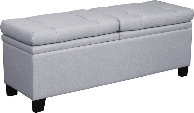 Marmor Gray Storage Bench