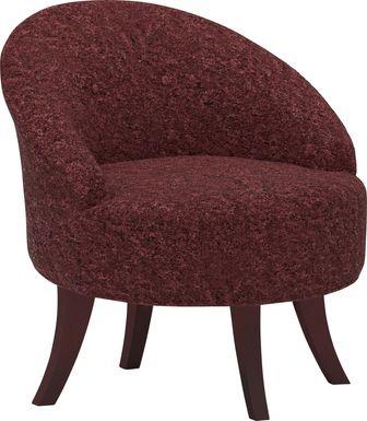 Marsston Burgundy Accent Swivel Chair