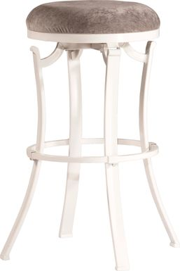 Matuka White Swivel Barstool