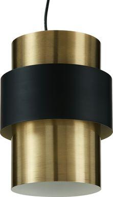 Maybelle Court Brass Pendant