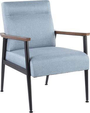 Maye Blue Accent Chair