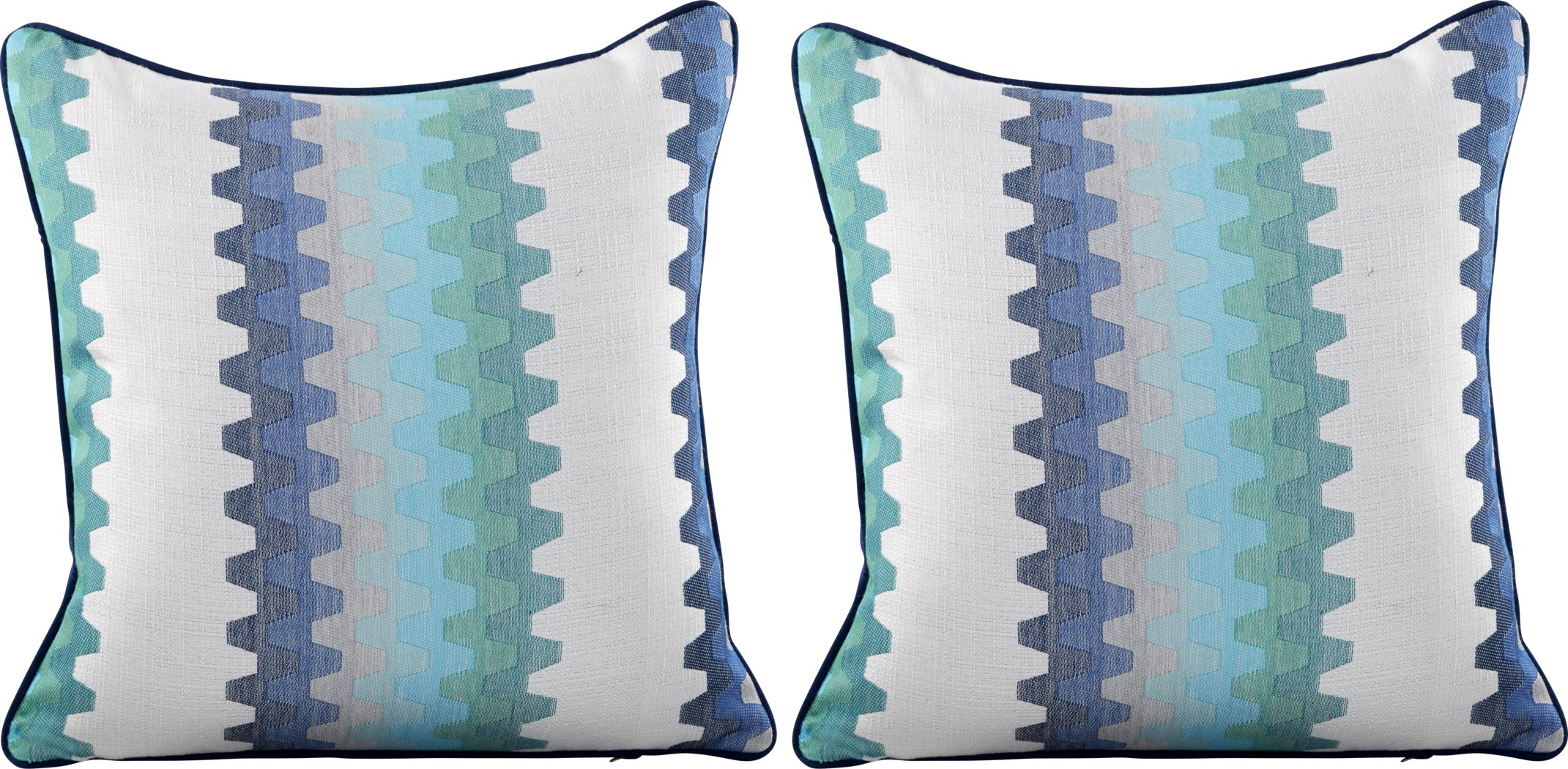 Accordion Geo Seaport Indoor/Outdoor Accent Pillow, Set of Two