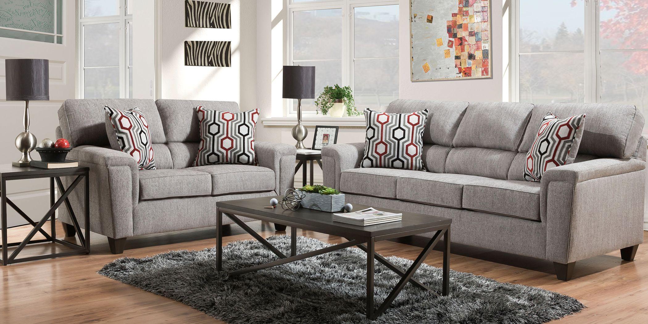 Maylie Gray 2 Pc Living Room