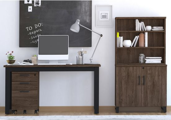Mckelvey Brown 3 Pc. Office Set