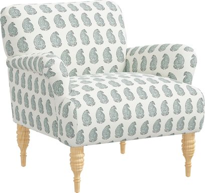 Meadow Breeze Sage Accent Chair
