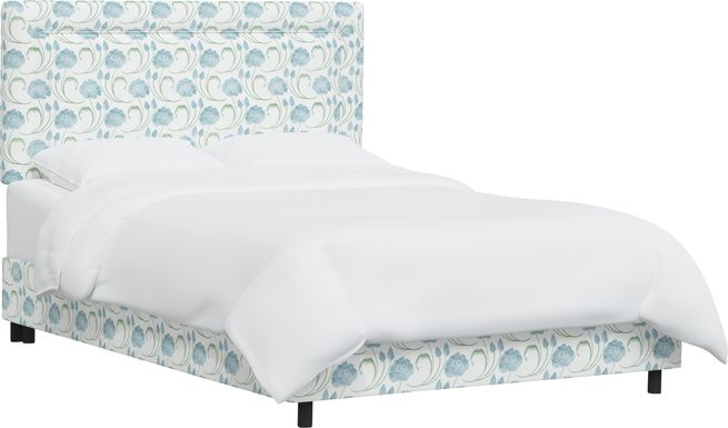 Meadow Breeze Sage Queen Upholstered Bed