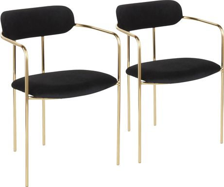 Meckling Black Arm Chair, Set of 2