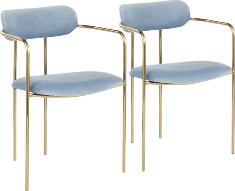 Meckling Blue Arm Chair, Set of 2